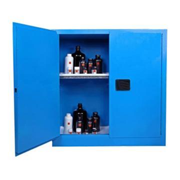 成霖 蓝色弱腐蚀性液体安全柜,30加仑/114升,双门/手动,CL803002