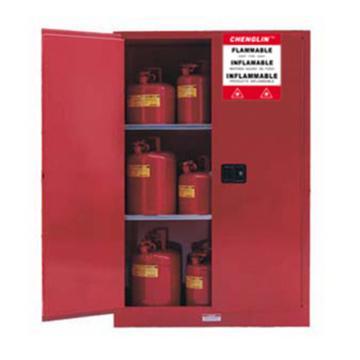 成霖 红色可燃液体安全柜,90加仑/340升,双门/手动,CL809001