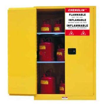 成霖 黃色易燃液體安全柜,45加侖/170升,雙門/手動,CL804500