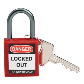 贝迪BRADY 绝缘安全挂锁,铝合金锁钩,红色,143150
