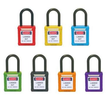 绝缘安全挂锁(红)-高强度工程塑料锁体及锁梁,红色,绝缘锁梁Φ6mm,高38mm,14671