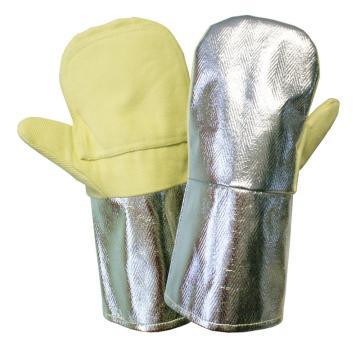 海太尔 0207-10 700℃耐高温手套, 黄色+银色,360mm