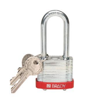 """贝迪BRADY 钢锁,2""""/5cm锁钩,锁芯互异,红色,99524"""