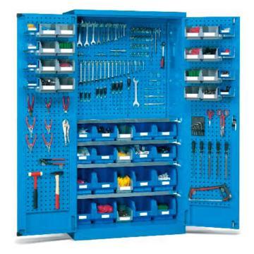 锐德 挂板门型置物柜,外形尺寸(mm):1000W*600D*1800H(不含零件盒),CP106018-3