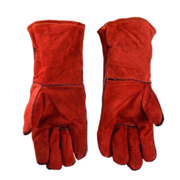 代尔塔DELTAPLUS 焊接手套,205515,CA515R 隔热焊工手套 均码