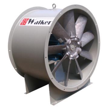 AF机翼型轴流风机,沃克,AF-560D6-30-T,380V/50Hz/3P,7000M3/H,960RPM,电机功率0.37KW,全压100Pa,静压65Pa,管道型出风方向