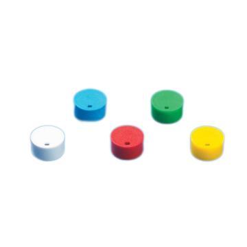 BRAND彩色管盖插片,适用于细胞冻存管管盖,PP材质,绿色,500个/箱
