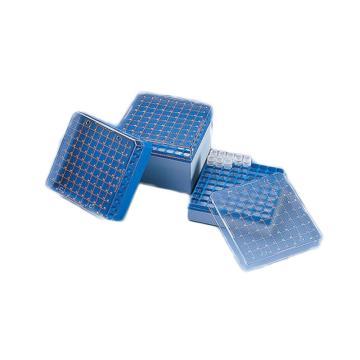 BRAND储存盒,PC材质,可以放置100个规格为1.2ml或2ml的细胞冻存管(内螺纹式),4个/包