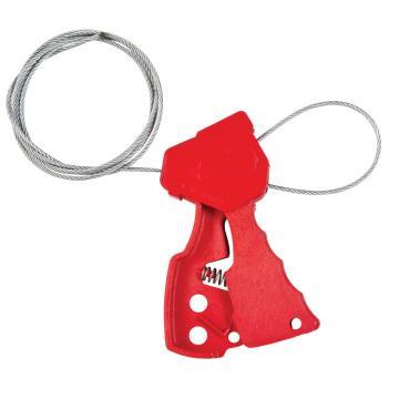 """贝迪BRADY 红色阀门缆锁,带6""""钢缆,65318"""