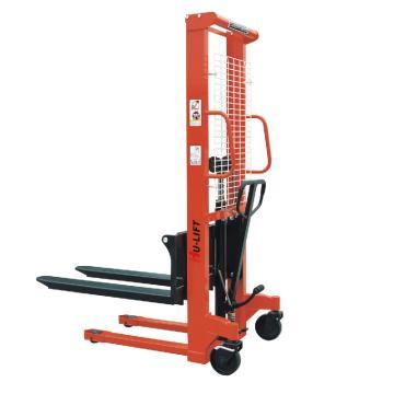 虎力 手动堆高车1000kg,货叉最大高度3M 货叉可调外宽300-850mm,PC1030
