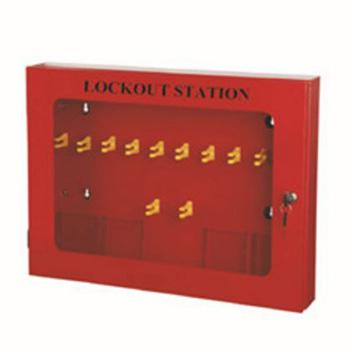 安赛瑞 锁具管理箱(空箱)-红色粉末喷涂钢板,透明箱门可上锁,580×430×90mm,14739