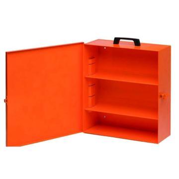 安赛瑞 锁具管理箱(空箱)-橙色粉末喷涂钢板,内置2个层板,箱门可上锁,415×350×148mm,14736