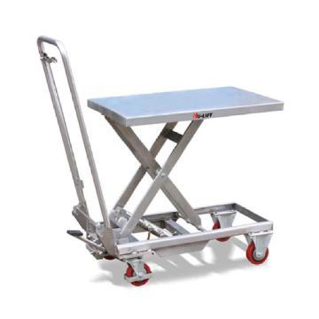 虎力 不锈钢平台车,载重100kg,台面最低/最高高度(mm):265/755,台面尺寸(mm):700*450