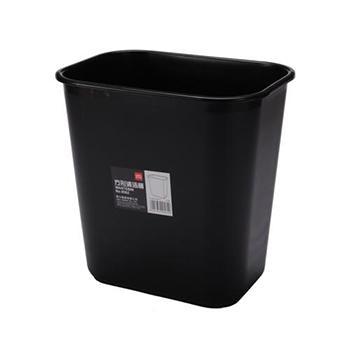 得力垃圾桶,黑色方形,9562