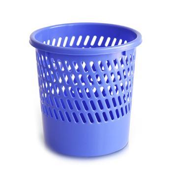 得力垃圾桶,圆形塑料,9553,蓝色紫色随机
