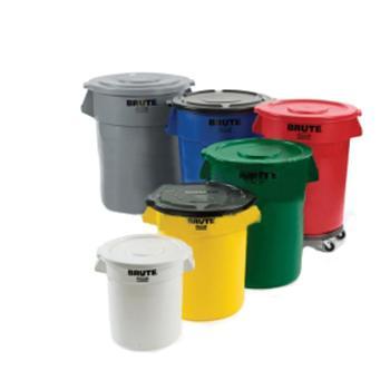 乐柏美Rubbermaid储物桶,261000白色,不连桶盖,37.9L