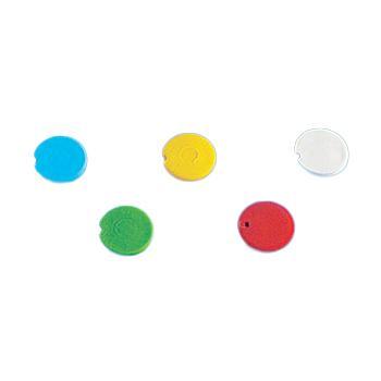 BRAND彩色管盖插片,PP材质,适用于细胞冻存管管盖,红色,500个/包