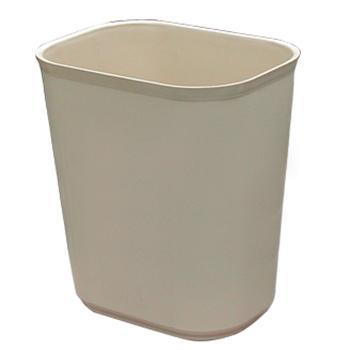 耐火垃圾桶,方形阻燃垃圾桶,27L,杏色