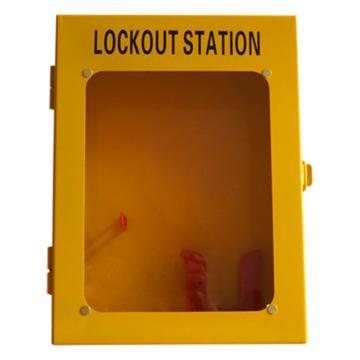 都克 四锁锁具挂板(带门,空板),可悬挂4把挂锁,3把六联锁具,12张吊牌,260*100*350mm,S42A