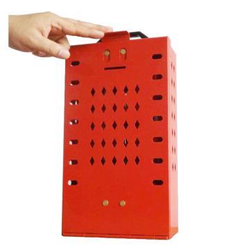 都克 壁挂便携式多孔锁具箱,内置12个挂钩,提供14人上锁,190×90×330mm,B13