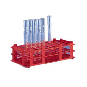 BRAND试管架,可放置55只最大直径为18mm的试管,红色,5个/包