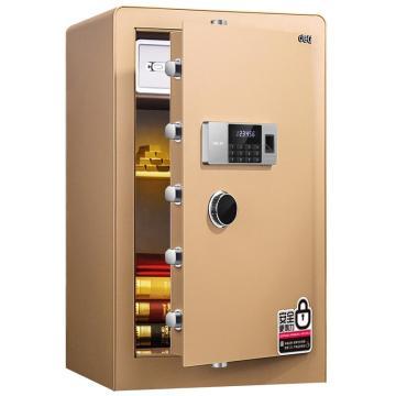 得力 指纹密码保管箱(金色) ,H800xW480xD420mm 4107