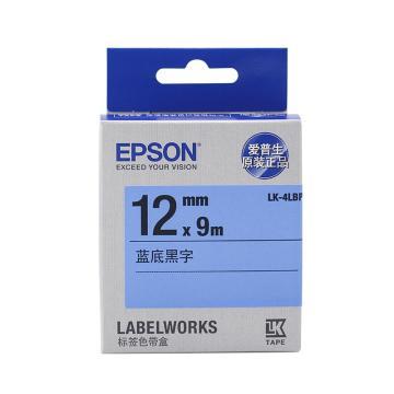 爱普生(epson) 标签带色带标签纸,12mm 蓝底黑字 LK-4LBP 单位:个