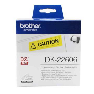 兄弟 DK色带,62mm*15.24m黄底/黑字(菲林) 单位:盒