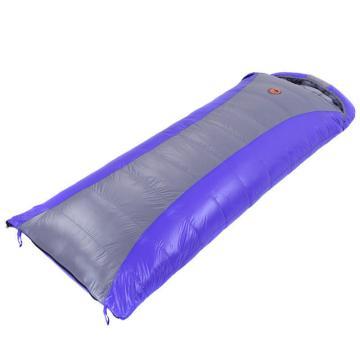 封式羽绒睡袋户外保暖加厚冬季单人可拼接 105蓝配灰 1人