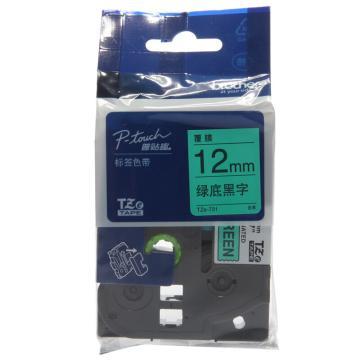 兄弟 色带,绿底/黑字,12mm TZE-731( 后期型号升级为TZE-Z731,产品不变) 单位:卷