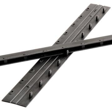 得力3824-10孔装订夹条(黑)300*3mm(100支/盒)