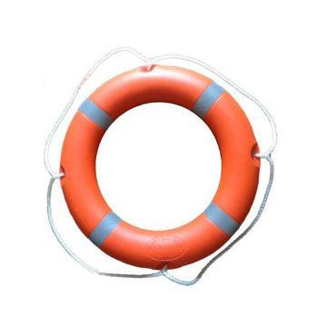 救生圈-高密度聚乙烯外壳,内充高密度聚氨酯闭孔泡沫,白色反光条纹,内径440mm,外径720mm,20366
