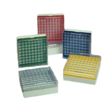 NALGENE彩色冻存盒,聚碳酸酯,分类(每种颜色4个加4个白色)