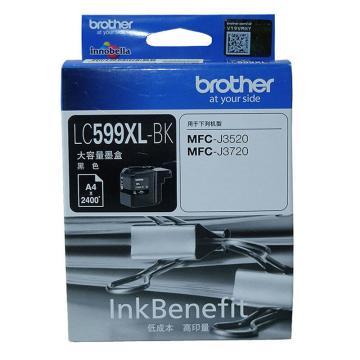 兄弟 墨盒,LC599XLBK,黑色适用MFC-J3520/MFC-J3720 单位:个