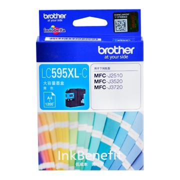 兄弟(brother) 彩色墨盒,LC595XL-C青色 适用MFC-J2510/MFC-J3520/MFC-J3720 单位:个