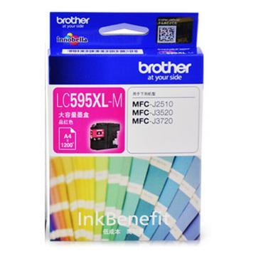 兄弟(brother) 彩色墨盒,LC595XL-M红色适用MFC-J2510/MFC-J3520/MFC-J3720 单位:个