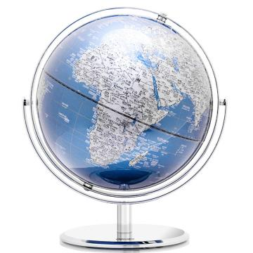 得力(deli) 万向双轴旋转世界地球仪,商务礼品 居家摆设 办公摆件 30cm 蓝色 2163 单位:只
