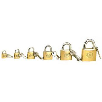 黄铜通开挂锁-黄铜锁体,锁体50×43×13mm,锁梁Φ8.8mm,锁梁宽43mm,总高77mm,14755-通开型