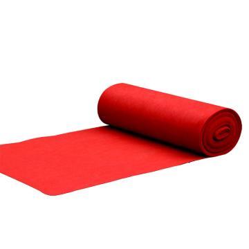 红地毯一次性 婚庆红地毯 展会地毯加厚地毯 2.2毫米厚 3米宽x10米长