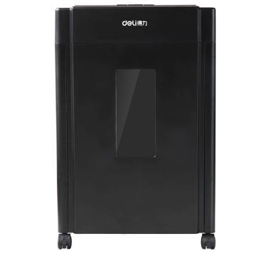 得力(deli) 碎纸机, 亚克力面板碎光盘20升大容量黑色 9904 单位:台