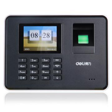 得力 指纹考勤机, 指纹打卡机 免安装U盘下载免安装 黑色 3947 单位:台
