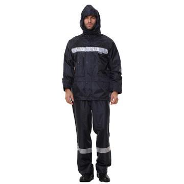 安大叔 反光雨衣,深蓝色,XXL码