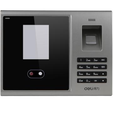 得力(deli) 人脸考勤机,指纹式 打卡机面部识别人脸考勤机免安装3749 单位:台