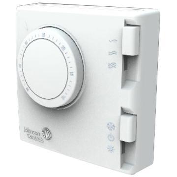 江森 风机盘管温控器,T125BAC-JS0,冷暖型, 二管制, 白色