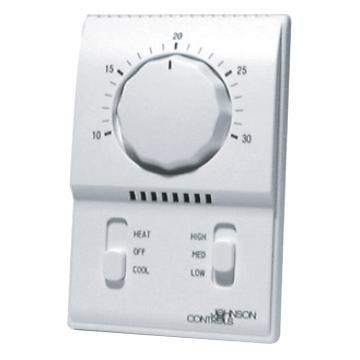 江森 风机盘管机械式温控器,T2000AAC-0C0,冷暖,二管制或四管制