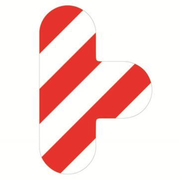 安赛瑞 5S管理地贴-T型,红/白,100×150mm,15811,10个/包