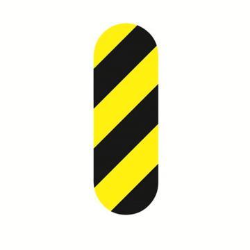 安赛瑞 5S管理地贴-一型,黄/黑,50×150mm,15803,10个/包