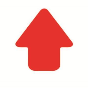 安赛瑞 5S管理地贴-箭头,红色,76×70mm,15784,10个/包