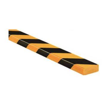 安赛瑞 警示防撞条(B款),耐寒PU材质,黄黑橘皮纹表面,板型,长1000mm,11411