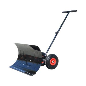 推雪铲 手推式轮式铲雪器 铲雪器 74cmx42cm 大号经典黑